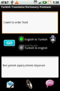 Turkish Translator/Dictionary Resimleri