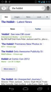 Yahoo! Search Application Resimleri