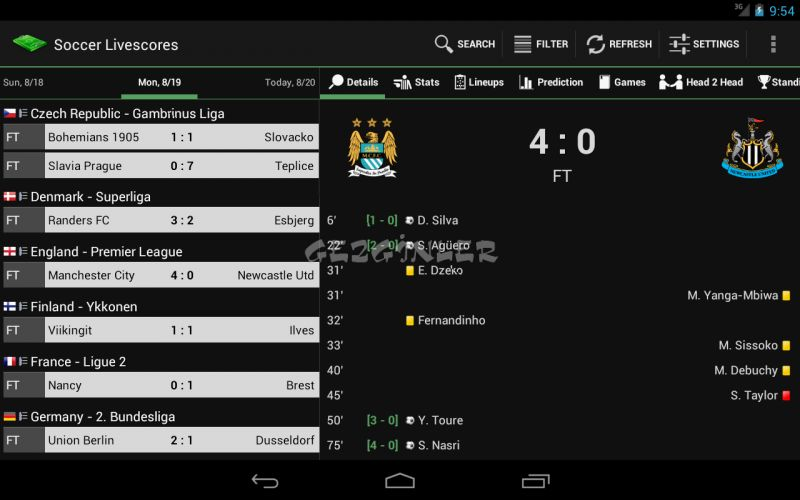 football score live