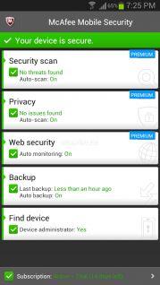 McAfee Antivirus & Security Resimleri