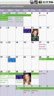 aCalendar - Android Calendar Resimleri
