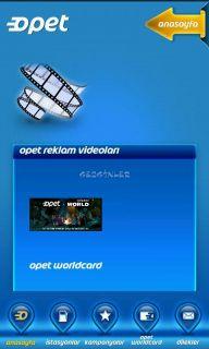 Opet Mobil Uygulaması Resimleri