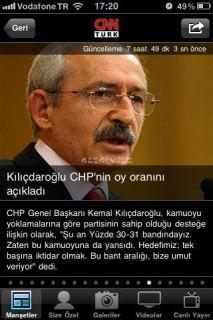 CNN Türk iPhone Uygulaması Resimleri