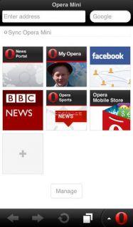 Opera Mini Web browser Resimleri