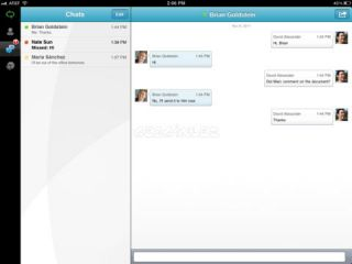 Microsoft Lync 2010 for iPad Resimleri