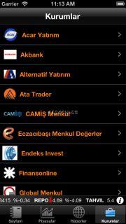 Matriks Mobil Finans Resimleri