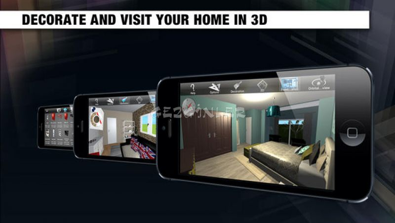 Home design 3d freemium for ipad ndir iphone ve ipad for Architecture 3d ipad