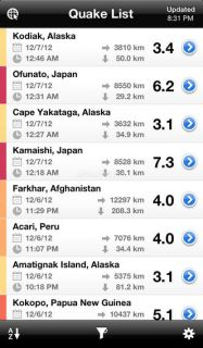 QuakeFeed Earthquake Map, Alerts and News Resimleri