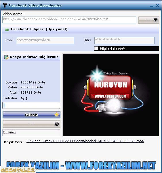 12183 - cebook Video Downloader 1.2.1 - Facebooktan video indirme programı